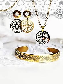 Sady šperkov - Margarétky - cenovozvýhodnená sada - 13537272_