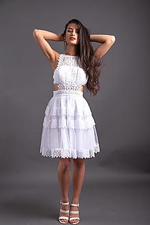 Šaty - Šaty z bavlnenej krajky a madeiry SKLADOM - 13536926_