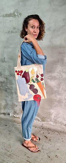 Nákupné tašky - ZERO calories ľanová shopper taška - 13536890_