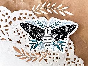 "Papier - Samolepka ""moth"" - 13537116_"