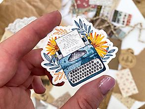 """Papier - Samolepka  """"typewriter"""" - 13537122_"""