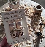 Papiernictvo - Drevené blahoželanie novomanželom - A - 13535855_