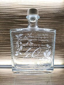 Nádoby - Výročná fľaša na zákazku 40 - 13538458_