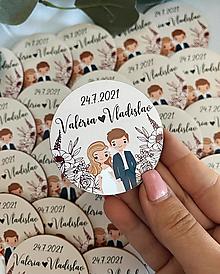 Darčeky pre svadobčanov - Magnetky pre svadobčanov postavičky - 13538048_