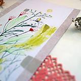 Kresby - Kôprové údolie/ originál pastelkové kreslenie - 13538978_