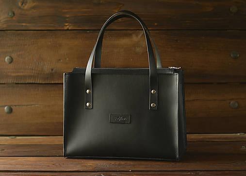 Veľké tašky - Kožená taška Klára - Black - 13537625_