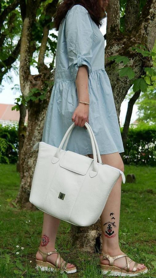 Veľké tašky - Kožená kabelka - Nora  - 13538685_