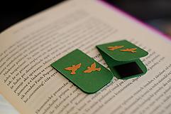 Papiernictvo - Lesné záložky - párik holubíc - 13538042_