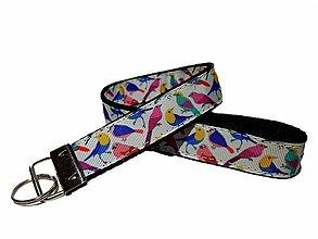 Kľúčenky - Kľúčenka Farebné vtáky - 13537922_