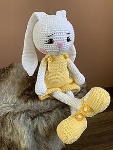 Hračky - zajačik FUFU - v žltom - 13539058_