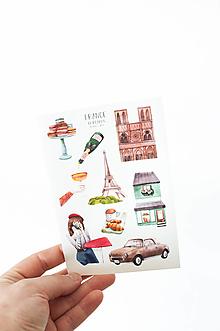 """Papier - Nálepky - hároček """"France"""" - 13538751_"""
