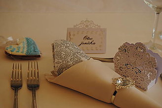 Papiernictvo - Svadobné menovky na stôl - 13538938_