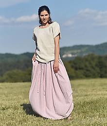 Sukne - Maxi sukně z vyšívaného mušelínu - růžová - 13538301_