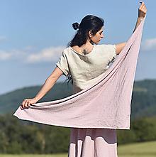 Šatky - Šátek z vyšívaného mušelínu - světle růžový - 13538597_