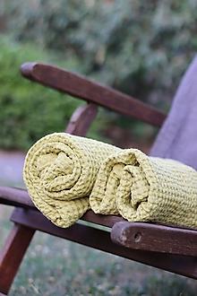Úžitkový textil - Ľanová osuška - 13539321_
