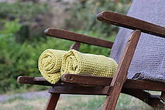 Úžitkový textil - Ľanový uterák - 13539350_