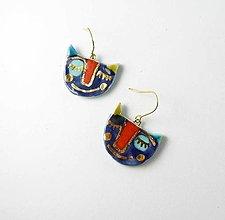 Náušnice - Tana šperky - keramika/zlato - 13540258_