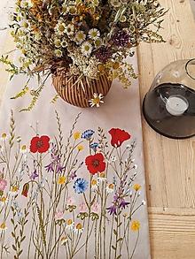 Úžitkový textil - Štóla maky - 13541324_