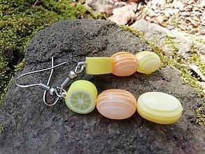 Náušnice - Náušničky citronáda - 13539917_
