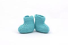 Topánočky - Tyrkysové letné papučky EXTRA FINE - 13540733_