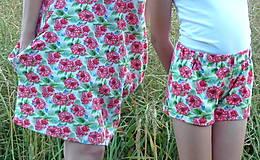 Detské oblečenie - Kraťasky Maliny úplet - 13543775_