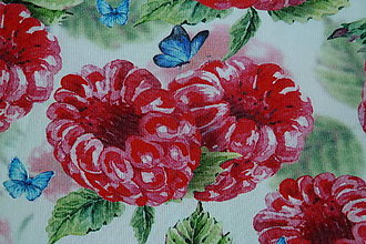 Textil - Úplet Maliny - 13543351_