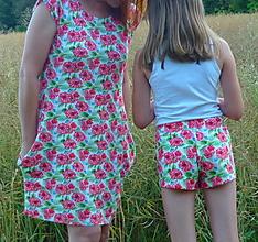 Detské oblečenie - Kraťasky Maliny úplet - 13543769_