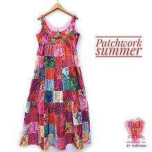 Šaty - Patchworkové autorské šaty - 13542312_