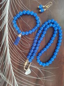 Sady šperkov - Set ,,kráľovsky modrá,, - 13542730_