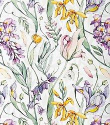 Textil - divá záhrada, extra kvalitný 100 % bavlnený satén, šírka 160 cm - 13542888_