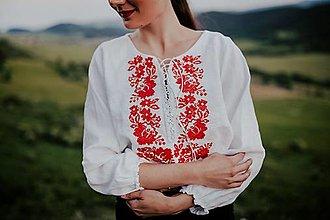 Topy - crop top Zámutovské kvety - 13542409_