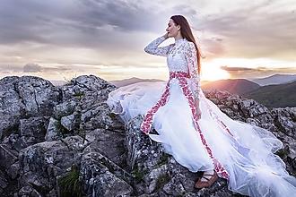 Opasky - vyšívaný opasok Zámutovské kvety - 13542431_