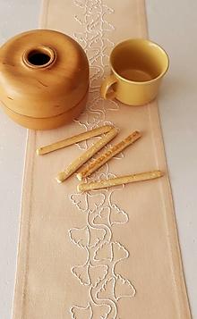Úžitkový textil - Prestieranie, ginko biloba, 120 x 19 cm - 13542635_