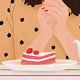 Grafika - Francouzská kavárna - umělecký tisk - 13545236_