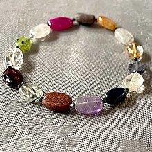 Náramky - Elastic Mix Gemstone Bracelet / Elastický náramok mix minerálov - 13545195_