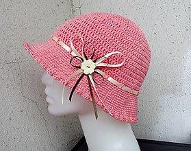Čiapky - letný háčkovaný klobúčik - 13545581_