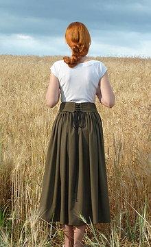 Sukne - Sukňa so šnurovačkou - 13545200_