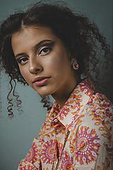 - Soutache šujtášové náušnice so Swarovski krištáľmi Nina Kolekcia - 13546546_