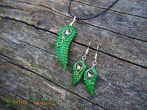 Sady šperkov - Sada šperkov so Swarovski kryštálmi, Paprad - 13544550_