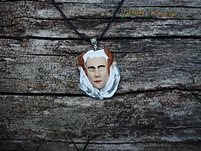 Náhrdelníky - Tharanduil spiaca elfská tvár ako Amulet - 13544977_
