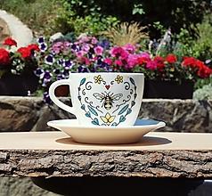 Nádoby - Šálka na kávu VČELA - 13544155_