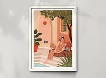 Grafika - Tajná zahrada - umělecký tisk - 13547208_