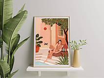 Grafika - Tajná zahrada - umělecký tisk - 13547209_