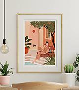 Grafika - Tajná zahrada - umělecký tisk - 13547210_