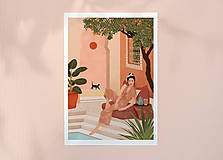 Grafika - Tajná zahrada - umělecký tisk - 13547211_