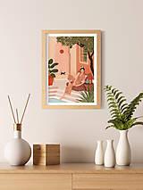 Grafika - Tajná zahrada - umělecký tisk - 13547212_