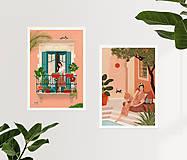 Grafika - Tajná zahrada - umělecký tisk - 13547213_