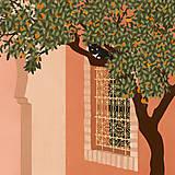Grafika - Tajná zahrada - umělecký tisk - 13547215_