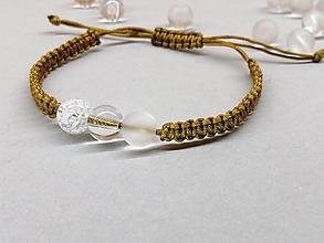 Náramky - Náramok zlatý s krištáľom - 13549003_
