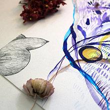 Kresby - Do búrky letím/ originál akvarel - 13548551_